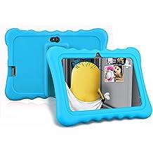 Ainol Q88 - Tablet Infantil de 7 Pulgadas Android 4.4 (Regalo para Niños, 1024x600, 8GB ROM, Soporta Tarjeta TF 64GB, con Carcasa Funda Sicolina), Azul