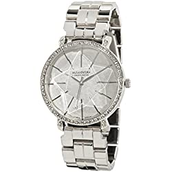Ladies Watch with Star in the Field and Swarovski Crystal Silver