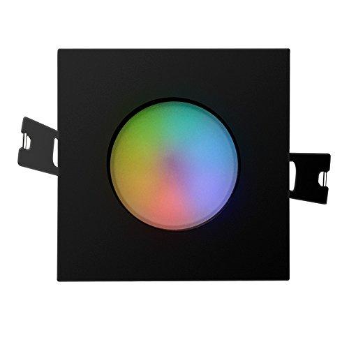 iHomma Downlight LED Empotrable Cuadrado,Dimmable Luz Blanca Fría+Cálida(2700~6500K) RGB Multicolores,WiFi Control,Mando a...