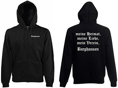 world-of-shirt Herren Kapuzenjacke Burghausen Ultras meine Heimat