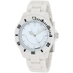 "Smiley ""Happy Time"" Ladies Smiley Original White Analogue Watch WGS-SOWV01"
