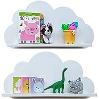 Cloud Ripiani in Bianco, blu e rosa, Per La Cameretta Dei Bambini (coppia)