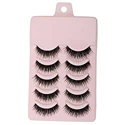 MagiDeal 5 Pairs Thick Messy Cross False Eyelashes Makeup Beauty Natural Eye Lashes P
