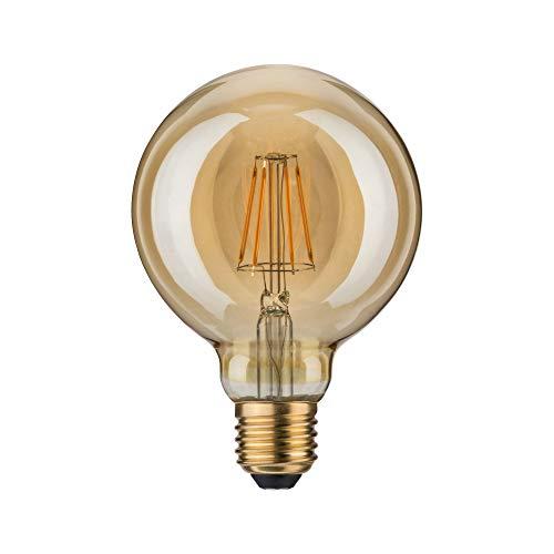 Paulmann 283.89 LED Globe Ø95mm 6,5W E27 230V Gold Warmweiß 28389 Leuchtmittel Lampe (Gold Globe Lampe)