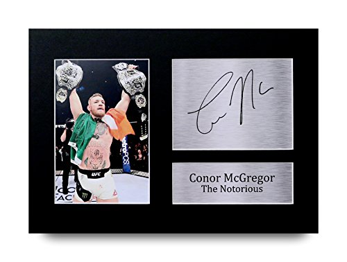 Conor McGregor Signed A4 Printed Autograph UFC Print Photo Picture Display - Great Gift Idea