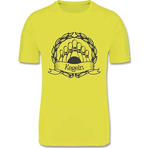 Shirtracer Bowling & Kegeln - Kegeln Lorbeerkranz - XL - Neon Gelb - F350 - Herren Laufshirt