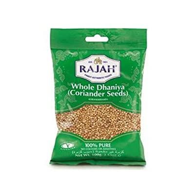 Coriander Seeds Whole (100g by Rajah) by Rajah
