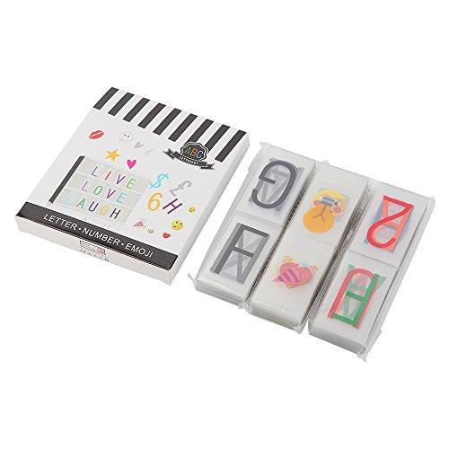 270 Letras  Números  Símbolos y Emojis para Caja Cinematográfica de Tamaño A4