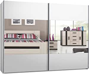 schwebet renschrank schiebet renschrank ca 300 cm weiss mit spiegel kauf ab fabrik. Black Bedroom Furniture Sets. Home Design Ideas