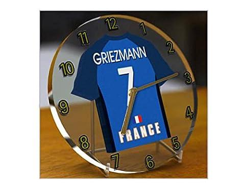 UEFA européenne International–Football FIFA International équipes de football–Maillot de football de bureau Horloges–N'importe Quel Nom, n'importe quel Nombre, n'importe quelle équipe. France FIFA International Football Kit Clock 165mm Circular