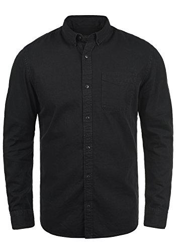 PRODUKT Pepito Herren Jeanshemd Denim Hemd Freizeithemd Mit Button-Down Kragen Aus 100% Baumwolle, Größe:M, Farbe:Black Denim