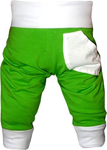 KLEINER FRATZ Baby Pumphose (Farbe Lime-Weiss) (Größe 110-122) - Kleine Kinder Lime Bekleidung