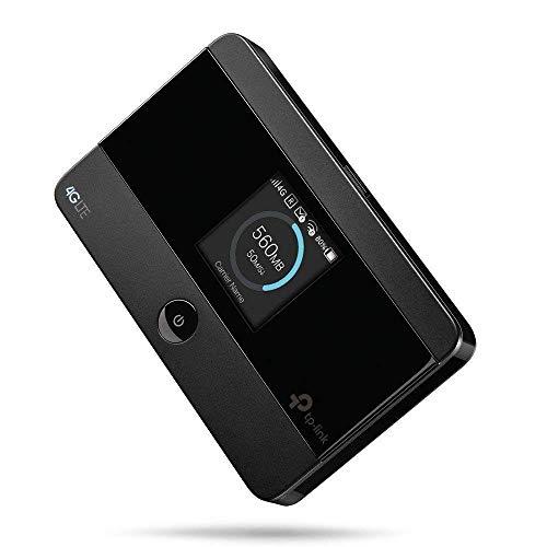 Tp-link m7350 mobile router hotspot portatile, 4g lte cat4 150mbps, dual band wi-fi, sim card, sd card fino a 32g, display a colori, durata fino a 8 ore, controllo del traffico
