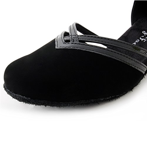 Jig Foo - Scarpe da danza latina come salsa, rumba, cha-cha da donna nero - nero