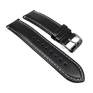 Bruno Banani Ersatzband Uhrenarmband Leder Band schwarz für Alos Herrenuhr BR22055 BR22056 BR22057 BR22058