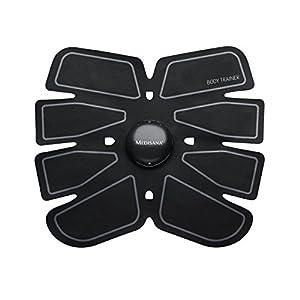 Medisana EMS Bauchmuskeltrainer elektrisch, Muskelstimulation der Arm- Bein und Bauchmuskulatur, Bauchmuskelgürtel mit 15 Intensitätsstufen