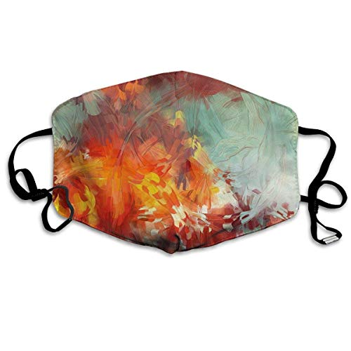 Monicago Einzigartige Unisex-Mundmaske, Gesichtsmaske, Abstract Tree Leaves Painting Polyester Anti-dust Masks - Fashion Washed Reusable Face Mask for Outdoor Cycling