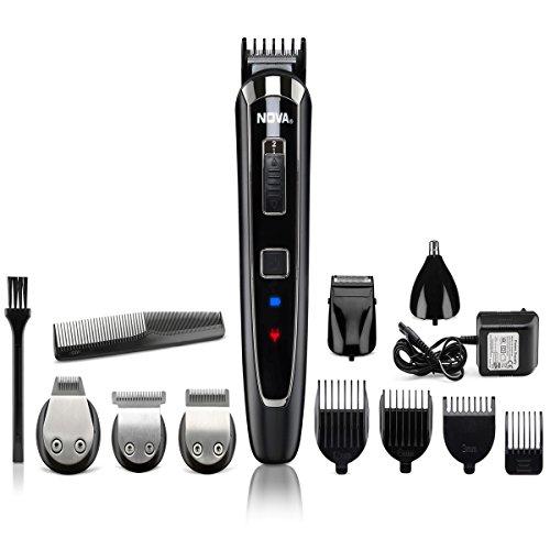 Nova All in One Head to Toe Digital Display Multi Grooming Kit (Black) Men's Grooming Sets & Kits at amazon