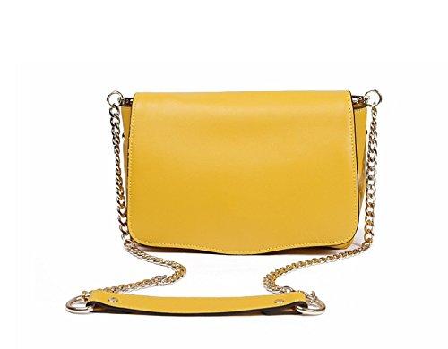 PACK Borsa Messenger Del Collo Di College Style Borsa A Mano Delle Donne Borsa Borsa Piccola Introverted Marea Borse Easy Care Chic,B:Yellow B:Yellow