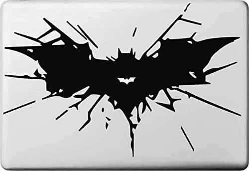 Vati Blätter Removable kreative Karikatur-Batman-Logo Aufkleber Aufkleber Skin Art Schwarz für Apple Macbook Pro Air Mac 13
