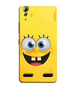 PrintVisa Designer Back Case Cover for Lenovo A6000 :: Lenovo A6000 Plus :: Lenovo A6000+ (Laughing Smiley With Big Tongue And Teeth Humours)