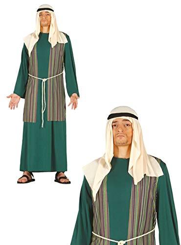 Krippe Machen Kostüm - grünes Josef Kostüm für Herren Gr. M/L, Größe:L