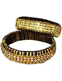 Chaitanya Silk Thread Jewellery Multi Colour Silk Thread Bangle Set For Women - B078C54Q1L