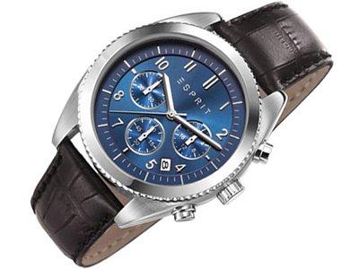 Esprit–Reloj de pulsera para hombre cronógrafo cuarzo piel es107581002