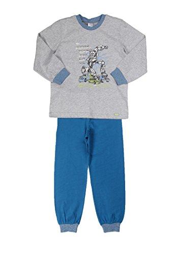 Kanz Jungen Zweiteiliger Schlafanzug Lang, Einfarbig, Gr. 98, Grau (light gray melange gray 8100)