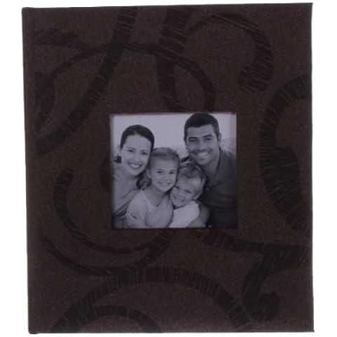 Kenro Sonata Modern Slip In Photo Album holds 200 7x5'' 13x18cm Dark Brown (Pack 1) [KSN202BN]