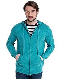 Wool Overs Gilet à capuche homme en cachemire et coton