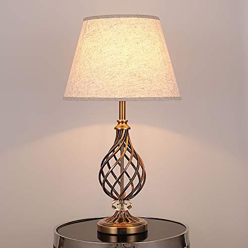 Lampe de Table, Moderne Chevet,Lampe à poser industrielle en cristal forgé pour les chambre bureau salon Eclairage décoratif