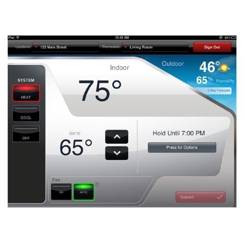 Honeywell RET97E5D1005/U Wi-Fi Programmable Thermostat-3