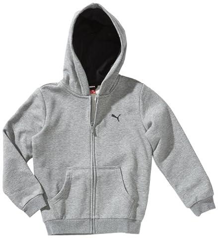 PUMA Jungen Jacke ESS Hooded Jacket, Medium Gray Heather, 176, 824183 02