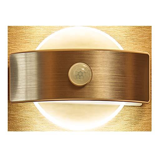 FUNRUI LED Nachtlicht mit Bewegungsmelder, AUTO/ON/OFF Wandleuchte Batterie Powered und USB Wiederaufladbar Nachtlichter für Flur, Schlafzimmer, Küche, Haus