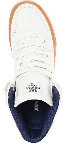 Supra Vaider S28058, Sneaker uomo Off-White/Blue Nights/Gum