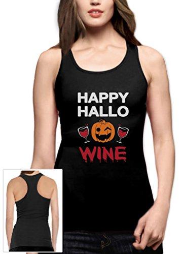 loween Geschenk für Wein Fans Racerback Tank Top Small Schwarz (Wein Halloween Kostüm Ideen)