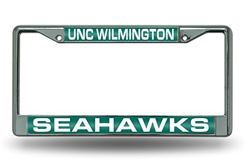 North Carolina Wilmington Seahawks Official NCAA 12 Inch x 6 Inch Metal License Plate Frame by Rico