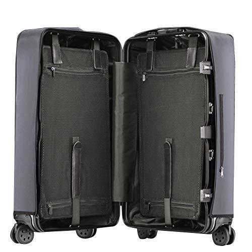 MISSMAO_FASHION2019 Transparente Gepäckabdeckung Material PVC Koffer Schutzhülle Kofferschutzhülle Gepäck Cover Wasserdicht Dunkel Grau 24''[(41-44cm) L*(57-60cm) H] - Dunkle Gepäck