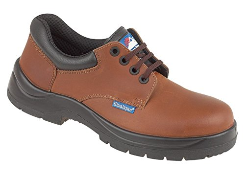 Himalayan Hygrip scarpe di sicurezza in pelle marrone con metal free puntale/intersuola in PU suola Brown