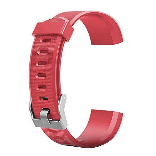 YOun Farbiges Armband, Ersatz-Zubehör für ID115Plus HR-Smart-Watch, rot, 180.00*100.00*20.00