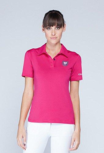 Asmar Equestrian Damen Polo Shirt Hot Pink, hot pink