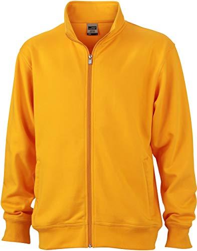 James & Nicholson Herren Workwear Sweat Jacket Sweatshirt, Gelb (Gold-Yellow), XXXXX-Large -