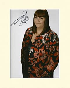DAWN FRENCH VICAR OF DIBLEY SIGNED AUTOGRAPH PHOTO PRINT IN MOUNT