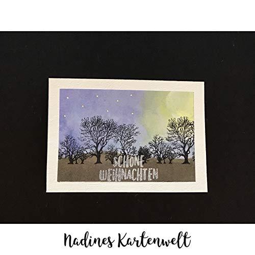 "Weihnachtskarte\""Aquarell-Wald\"""