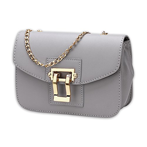 Ladies fashion bag satchel-grigio grigio