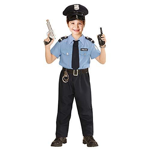 Widmann 04028 Kinderkostüm Polizist, Jungen, Blau, 158 ()