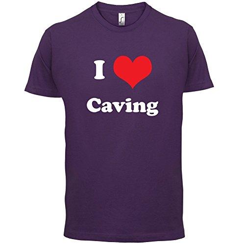 I Love Caving - Herren T-Shirt - 13 Farben Lila