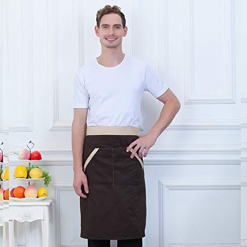 Kellner Kostüm Italienische - YXDZ Kochschürze Halbe Schürze Chinesische Und Westliche Halbe Schürze Restaurantküche Schürze Kellner Schürze Kaffee Farbe Beige Seite