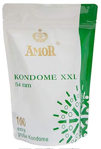 AMOR'XXL' 100er Pack Markenkondome, für pures Gefühl, hauchzart und feucht